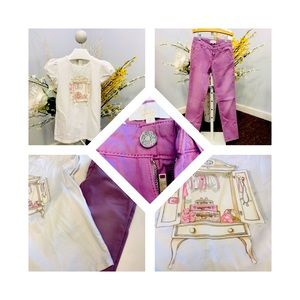 Gucci girl outfit size 8 purple